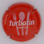 Marque : FOREST M & Fils N°Lambert : 24 Couleur : Rouge, écriture blanche Description : Restaurant Turbotin - nom de la marque  Emplacement :