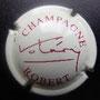 """Marque : ROBERT  Valery N° Lambert : 3 Couleur : Crème et Bordeaux Description : Signature """"Valery"""" et nom de la marque  Emplacement :"""