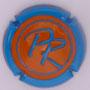 Marque : ROUYER Philippe N° Lambert : 26c Couleur : Contour bleu, centre orange Description : Initiales PR - nom de la marque sur le contour  Emplacement :