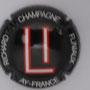 Marque : RICHARD - FLINIAUX N° Lambert : 14i Couleur : Fond noir, lettre rouge et blanche Description : lettres LI - nom de la marque  Emplacement :