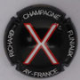 Marque : RICHARD - FLINIAUX N° Lambert : 14n Couleur : Fond noir, lettre rouge et blanche Description : lettres X - nom de la marque  Emplacement :