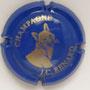 Marque : RENARD JC N° Lambert : 8 Couleur : Fond bleu, dessin or Description : Tête de renard - nom de la marque  Emplacement :