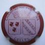 Marque : FURDYNA N° Lambert : 3 Couleur : Rose pâle, contour  Bordeaux foncé Description : Blasons Corse et Champagne, surmontés d'une couronne  Emplacement : 050-07-05