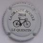 Marque : RICCUITI JC N° Lambert : NR Couleur : Fond blanc, dessin et lettre noire Description : Vélo - la grande boucle - nom de la marque  Emplacement :