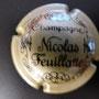Marque : FEUILLATTE Nicolas N° Lambert : 1 - foncé Couleur : Gris et noir Description : Champagne et nom du producteur Emplacement : 052-04-02