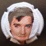 Marque : FAY Michel N° Lambert : 16b - 5 Couleur : Polychrome Description : portrait d'Elvis Presley 5/9  Emplacement :