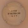 Marque : SERGENT Roger N° Lambert : 1.6 verso Couleur : Polychrome, contour blanc Description : Armoiries Anne d'Autriche - Nom de la marque Emplacement :