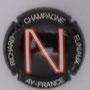 Marque : RICHARD - FLINIAUX N° Lambert : 14j Couleur : Fond noir, lettre rouge et blanche Description : lettres N - nom de la marque  Emplacement :
