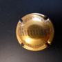 Marque : RUINART N° Lambert : 49 Couleur : Or et Gris  - 32mm   Description : Nom de la marque sur un blason couronné  Emplacement : 096-06-05