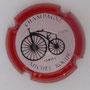 Marque : ROGUE Michel N° Lambert : 1.2 Couleur : Fond rosé, contour rouge Description : Grand Bi - nom de la marque  Emplacement :