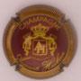 Marque : HUIBAN Auguste N° Lambert : 2 Couleur : Bordeaux et or striée Description : Initiales dans blason  - nom de la marque  Emplacement :