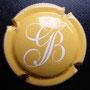 Marque : GUILLETTE - BREST N° Lambert : 16 Couleur : Jaune orangé et blanc Description : Initiales en lettres   cursives  Emplacement :