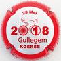 Marque : POIROT et fils N° Lambert : 11b Couleur : Contour Rouge, fond blanc Description : Gullegem Koerse 2018  Emplacement :