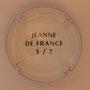Marque : SERGENT Roger N° Lambert : 1.3 verso Couleur : Polychrome, contour blanc Description : Armoiries Jeanne de France - Nom de la marque  Emplacement :