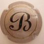 Marque : BARANCOURT N° Lambert : 1 Couleur : Gris et noir Description : lettre B stylisée noire  Emplacement :