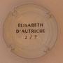 Marque : SERGENT Roger N° Lambert : 1.2 verso Couleur : Polychrome, contour blanc Description : Armoiries Elisabeth d'Autriche - Nom de la marque  Emplacement :