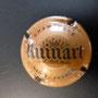 Marque : RUINART N° Lambert : 53 foncé Couleur : Marron foncé  - 32mm Description : Nom de la marque sur un blason couronné  Emplacement : 096-06-04