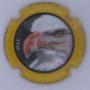 Marque : FOUREUR Dominique N° Lambert : 3.2 Couleur : Contour jaune Description : Pygargue à tête blanche - Nom de la marque Emplacement :