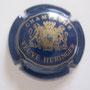 Marque :   HERINGER (veuve) N° Lambert : 6 Couleur :  Bleu et or brillant Description : Initiales dans armoirie soutenue par deux lions  Emplacement : 062-03-03