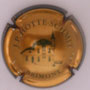 Marque : HOTTE - SCHMIT JP N° Lambert : 1 Couleur : Or, bronze et vert, striée Description : Village - nom de la marque  Ref perso :