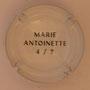 Marque : SERGENT Roger N° Lambert : 1.4 verso Couleur : Polychrome, contour blanc Description : Armoiries Marie Antoinette - Nom de la marque Emplacement :