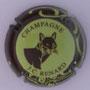 Marque : RENARD JC N° Lambert : 12 Couleur : Vert jaune, contour marron Description : Tête de renard - nom de la marque  Emplacement :
