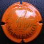 Marque : FAGOT Michel N° Lambert : 13 Couleur : Orange et or Description : Nom du producteur   et initiales stylisées  Emplacement :