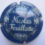 Marque : FEUILLATTE Nicolas N° Lambert : 3 Couleur : Bleu et crème Description : Champagne et nom du producteur Emplacement : 052-04-04