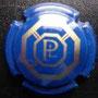 Marque : LANDREAT Philippe N∞ Lambert : 2 Couleur : Bleu et or Description : Initiales PL dans un octogone  Emplacement :