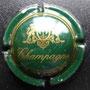 Marque : SANGER N° Lambert : 12 Couleur : Vert et or Description : Blason couronné au-dessus de l'inscription champagne  Emplacement :