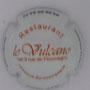 Marque : RUFFIN & fils N° Lambert : 49 Couleur : Fond blanc, écriture rouge Description :  Restaurant Le Vulcano - nom de la marque  Emplacement :