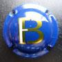 Marque : FENAUT - BAILLY N° Lambert : NR Couleur : Fond bleu, écritures or et blanc Description : Lettres FB stylisées  Emplacement :
