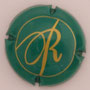 Marque : ROYER Jean-Jacques & Sébastien N° Lambert : 8e  Couleur : vert et or   Description : Lettres DR cursives  Emplacement :