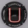 Marque : RICHARD - FLINIAUX N° Lambert : 14m Couleur : Fond noir, lettre rouge et blanche Description : lettres U - nom de la marque  Emplacement :