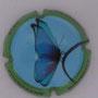 Marque : SOURDET - DIOT N° Lambert : NR6 Couleur : Polychrome Description : Papillon - nom de la marque  Emplacement :