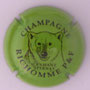 Marque : RICHOMME P & F N° Lambert : 11e Couleur : Vert et marron Description : Tête d'ours et nom de la marque  Emplacement :