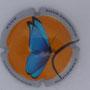 Marque : SOURDET - DIOT N° Lambert : NR3 Couleur : Polychrome Description : Papillon - nom de la marque  Emplacement :