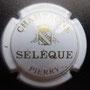 Marque :  SELEQUE N° Lambert : 1 Couleur : Blanc Description : Blason Champagne couronné au-dessus du nom de la marque  Emplacement :