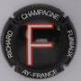 Marque : RICHARD - FLINIAUX N° Lambert : 14h Couleur : Fond noir, lettre rouge et blanche Description : lettre F - nom de la marque  Emplacement :