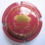 Marque :  RIGOT Jean-Marie N° Lambert : 2 Couleur :  Bordeaux et Or Description : Nom de la marque au-dessus d'un pressoir  Emplacement : 092-08-01