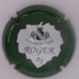 Marque : ROGER René N° Lambert : 12 Couleur : Vert et blanc Description : Nom de la marque dans une feuille de vigne  Emplacement :