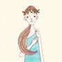 漢方の妖精のようなイメージの女性