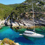 Anchoring and staying overnight in picturesque, lonely bays...