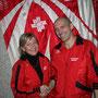 Abtretender Präsident Remy Nützi mit der neuen Präsidentin Corinne Ackermann