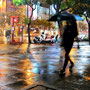 Día lluvioso, Kaohsiung, calle zhongshan. 03
