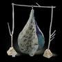 Kölnisch Wasser, selbstgefärbte Merinowolle, Seide, Baumwolle, Imprägnierung, 90x90x140cm (LxBxH)