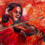 Violinenspielerin, 70 x 50 cm