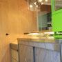 Schrank Edelstahl, Kühlschrank, LED-Leuchten