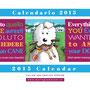 calendario con illustrazioni a colori con i bobtail anno 2015
