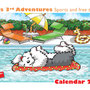 Calendario illustrato a colori con i bobtail anno 2014